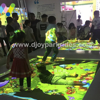 DJIP06 Amusement Park Interactive Trampoline Projection