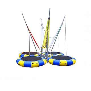 DJBTR36 4 Persons inflatable Trampoline Bungee