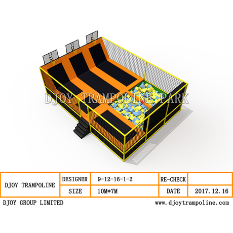 DJ-TP20 rectangular mini trampoline