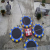 DJBTR37 4 Persons inflatable Trampoline Bungee with trailer